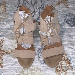 Tan steve madden wedges